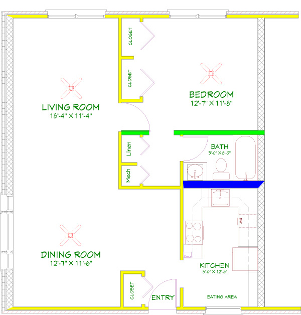 1 Bedroom Plus Floorplan